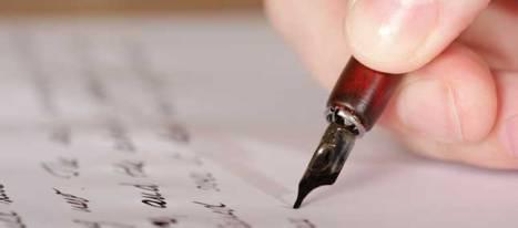 escribiendo hombre